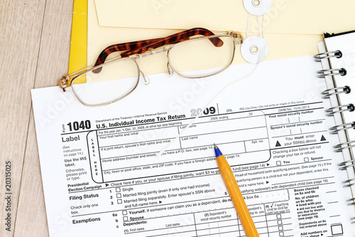 Filing of Tax form 1040