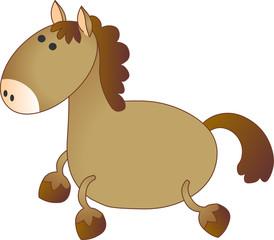 Vector model of horse