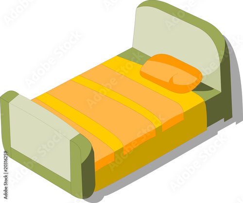 Vector model of bed