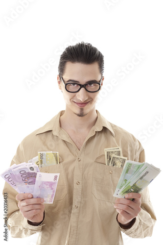 Man holding money in his hands
