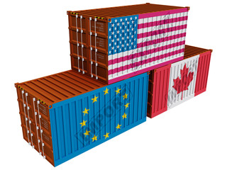 Trade containers USA EU Canada