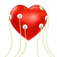 Heart with sensors