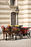 Horsedrawn carriage on the platz by the Hofburg Palace, Vienna