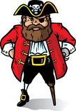 Cartoon Pirate Captain looking very angry. Part of a series. poster