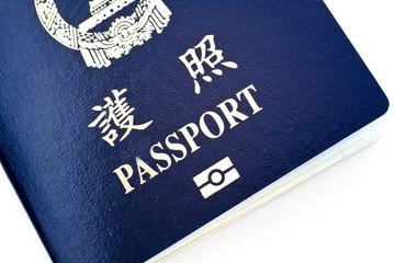 It is a close shot of passport