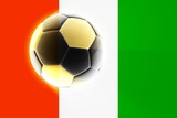 Flag of Ivory Coast soccer poster