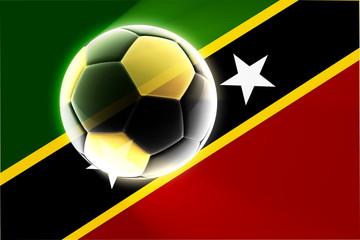 Flag of Saint Kitts and Nevis St. soccer