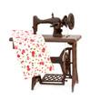 maquina de coser fondo blanco