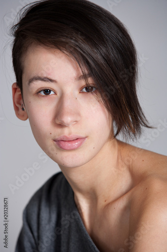 Simple portrait of beautifull multi etnic girl