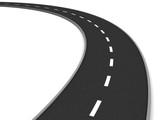 Fototapety road curve