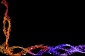 abstract background with light stark