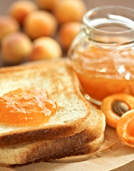 Toasts with apricot jelly