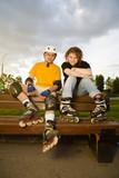 Fototapete Rollerblading - Sportarten - Roller / Skateboards /  Rollschuhe / Segway