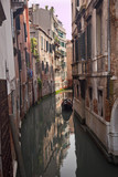 Small Side Canal Reflection Venice Italy