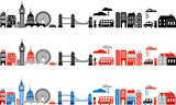Vector banners of London landmarks - European cities series poster