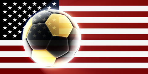 Flag of United States of America soccer