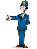 policeman certify a product poster