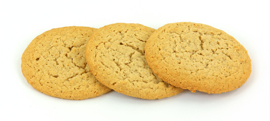Three soft and chewy peanut butter cookies