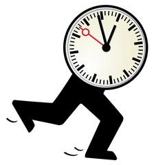 die Uhr läuft