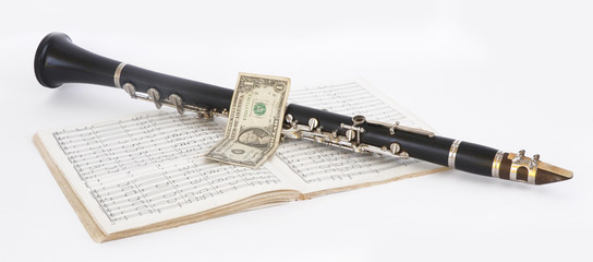 Clarinet and dollar