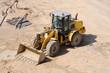 Wheel Loader Bulldozer at Construction Site