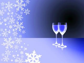 romantische Winternacht