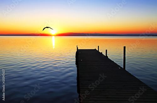 Foto op Canvas Pier colores de verano
