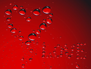 Heart made from waterdrops