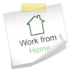 Work from home note