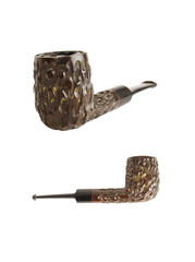 brown texturized pipe