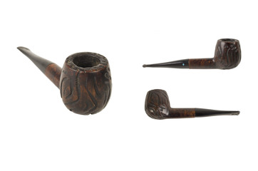 dark wood pipe