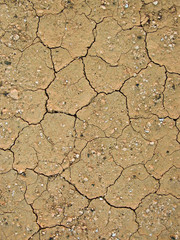 dry earth with structure and scratches due to heat