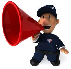 Police et mégaphone