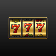 777. Winning in slot machine. Vector.