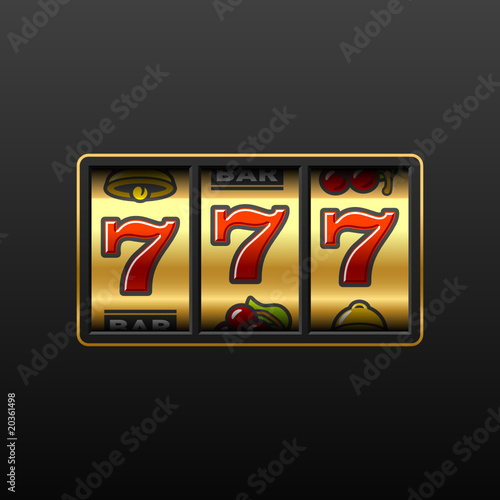 777. Winning in slot machine. Vector. - 20361498