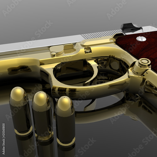 gun with bullets