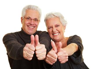 Grinsende Senioren