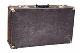 Old Russian suitcase of 1968 of release on a white background poster