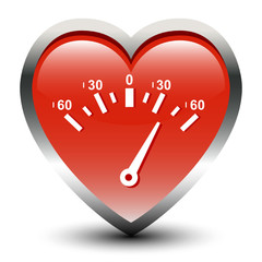 Heart Shape Speedometer