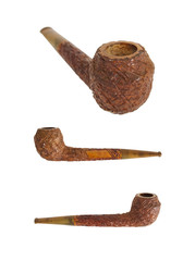 red wood texturized pipe