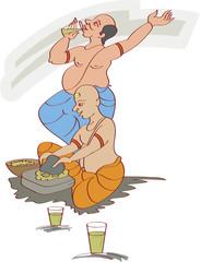 Bhang Ghoto men, Bhang (Cannabis) for Shivratri / Holi