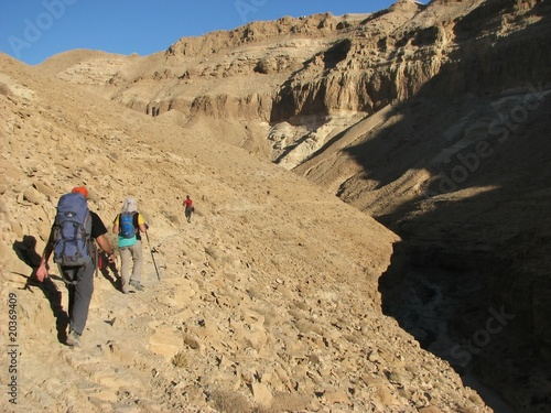 Hiking in Wadi Zeelim. Judean Desert