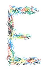 Paperclip Alphabet Letter E