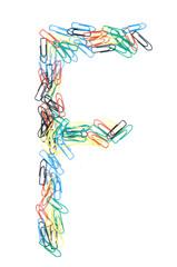 Paperclip Alphabet Letter F