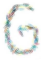 Paperclip Alphabet Letter G
