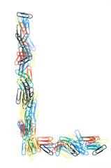 Paperclip Alphabet Letter L