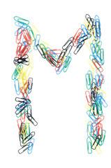 Paperclip Alphabet Letter M