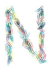 Paperclip Alphabet Letter N