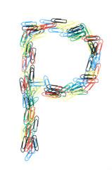 Paperclip Alphabet Letter P