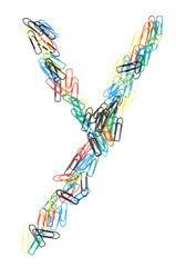 Paperclip Alphabet Letter Y
